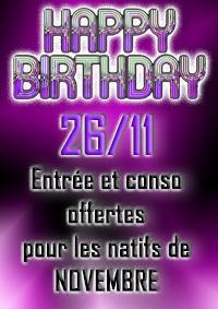 Soirée anniversaire en boite au Lodge 13 de Ploermel